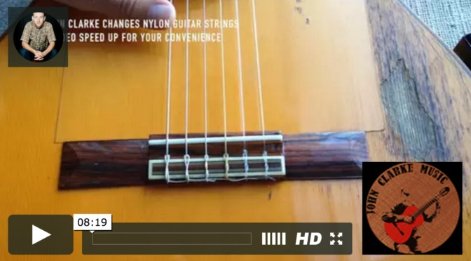 Changing Nylon / Classical / Spanish Guitar strings