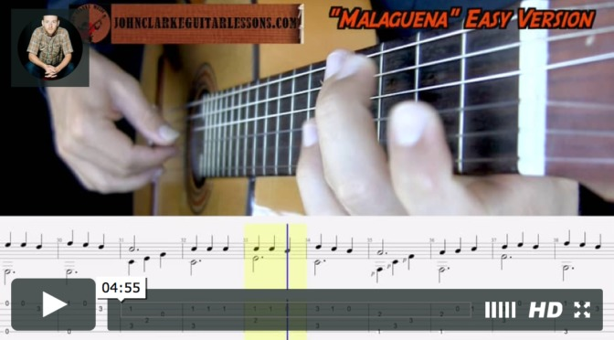 How to play Malaguena – Easy – Extended Version