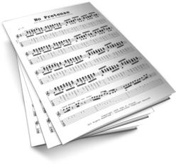 No Pretense Sheet Music TABS